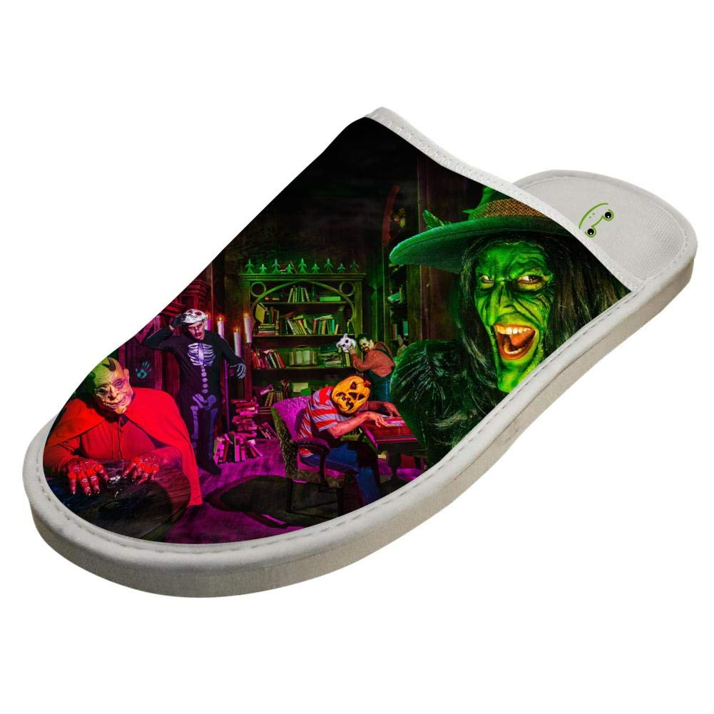 Womens and Mens House Slippers Halloween Creepy Witch Couple Sandals Closed Toe Indoor//Outdoor Slip on Shoes