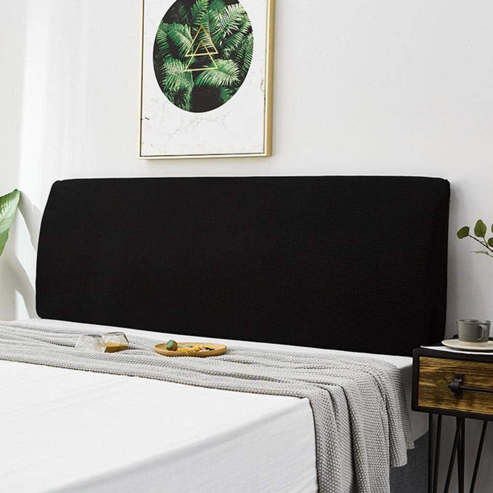 Headboard Cover Bed Headboard Slipcover Protector Elastic Universal Dustproof All-inclusive Bed Headboard Cover Solid Color Dustproof Cotton Cover For Most Headboar