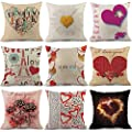 Throw Pillow Cover, DaySeventh Happy Valentine Pillow Cases Linen Sofa Cushion Cover Home Decor Pillow Case 18x18 Inch 45x45 cm