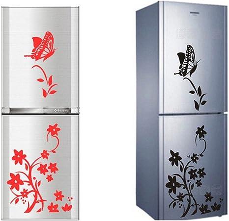 Nikgic 1pc Hermosas Pegatinas de Mariposas y Flores Cocina Cuarto de Baño Refrigerador Sala de Estar Etiqueta de la Pared Calcomanía Pared (Rosa): Amazon.es: Bricolaje y herramientas