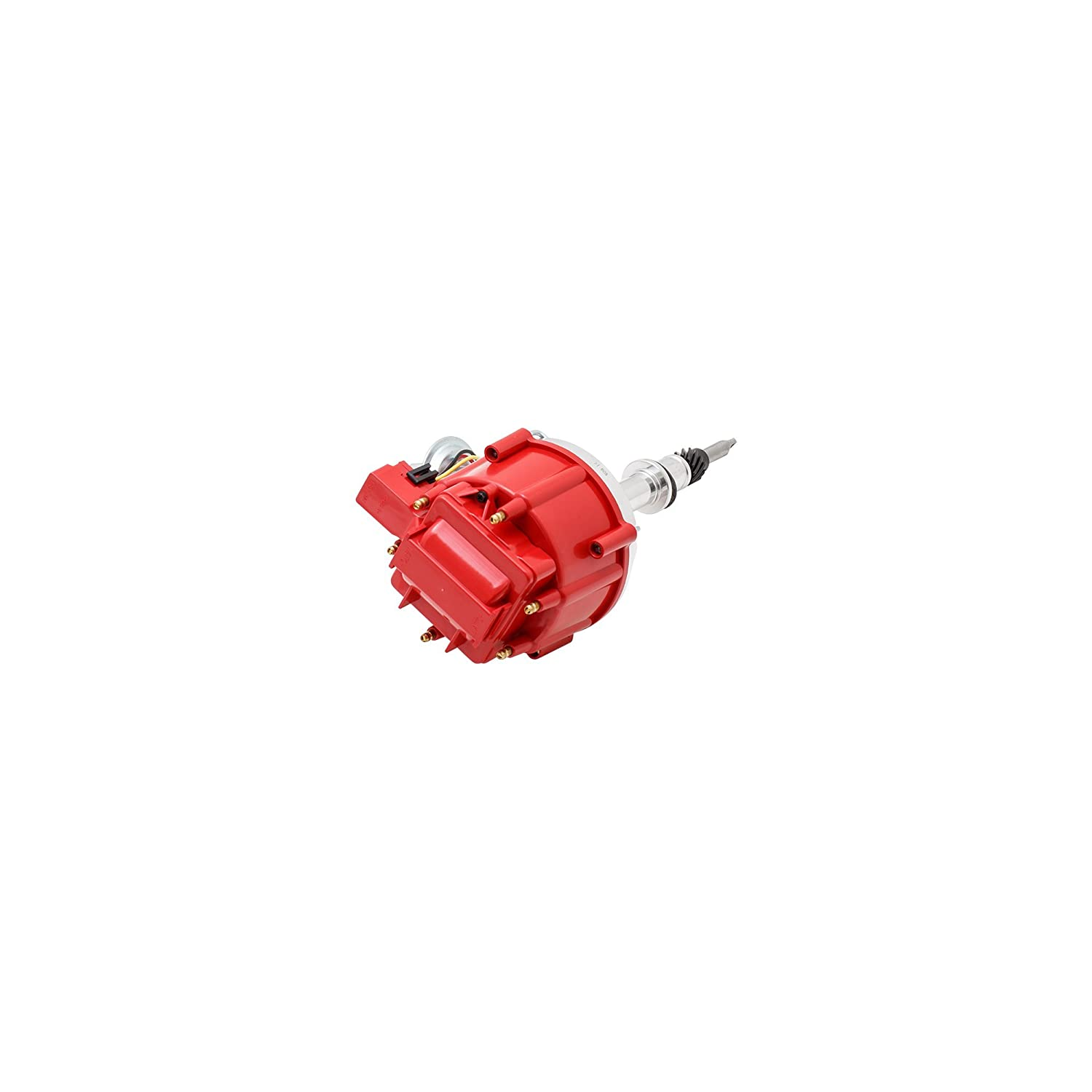 Top Street Performance JM6523R HEI Distributor with Red OEM Cap (65K Volt Coil)