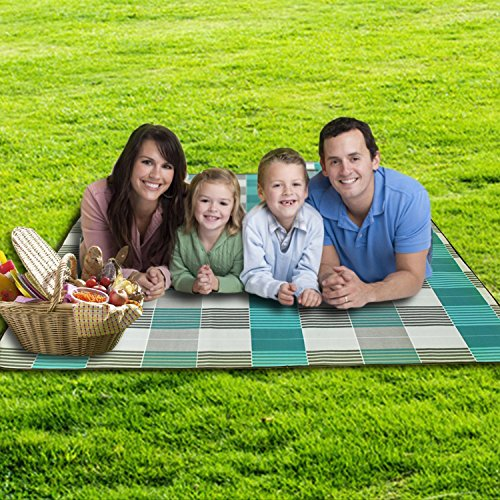 Family Beach Blanket: Large Picnic Blanket Tote Waterproof And Soft For Family