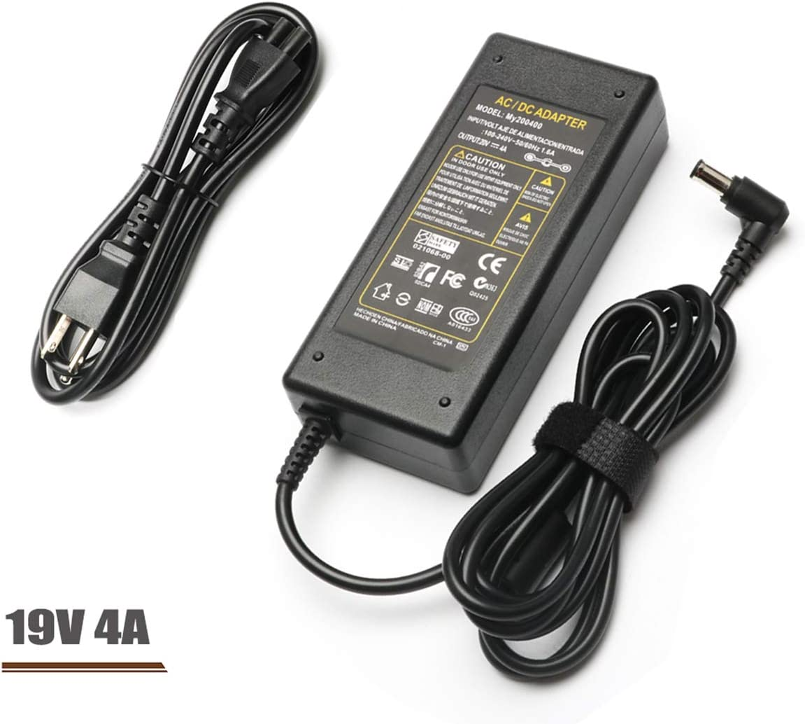 "19V AC Adapter TV Charger for Samsung A4819-FDY BN44-00837A A6619 FSM; HDTV TV Models 22"" 32"" UN32J UN22H LCD LED Plasma DLP; BN44-00837A A6619_FSM, HW-M360, HW-M360 Soundbar Power Supply Cord"