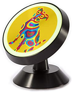 Magnetic Phone Car Mount-Ethnic Rainbow Dog Dash Mount Cell Phone Holder with A Strong Magnet-360 Degree Rotation-for Women Men