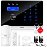 ERAY Home Alarm System GSM / 3G / WIFI, WM3FX Anti-burglar Home Alarm Systems with Free APP, Remotes, Door Sensor, PIR Detectors and Battery Included