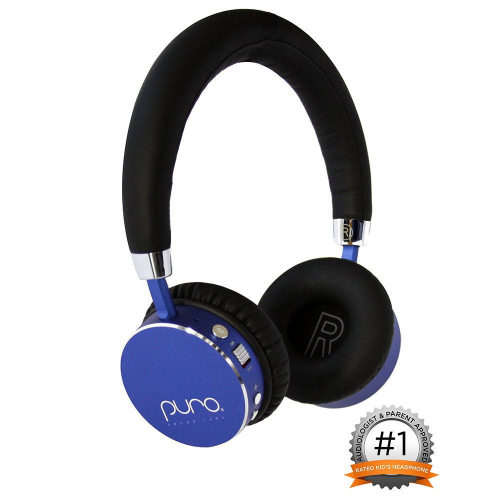 Puro Sound Labs BT2200 Over-Ear Headphones Lightweight Portable Kids Earphones with Safe Wireless, Volume Limiting, Bluetooth and Noise Isolation for iPhone/Android/PC/Tablet - BT2200 Blue by Puro Sound Labs