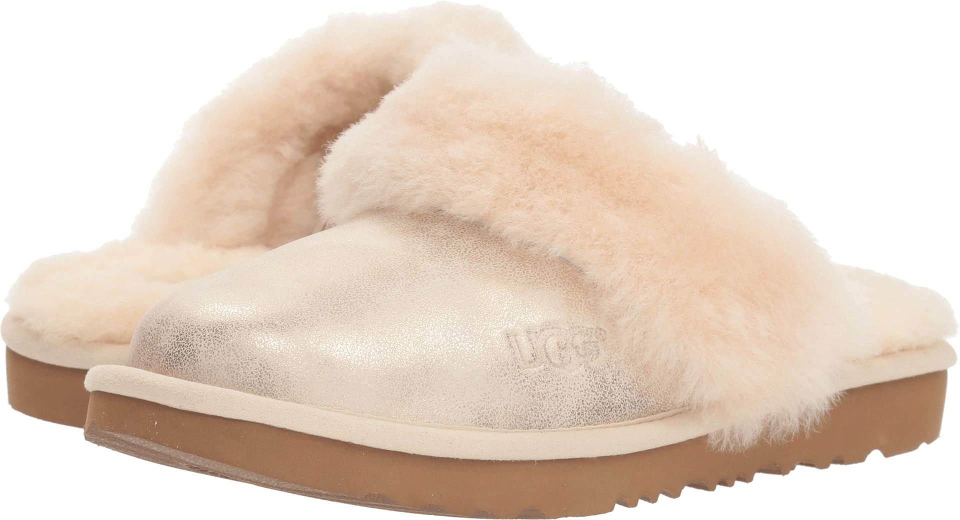 UGG Girls' K Cozy II Metallic Slipper, gold, 10 M US Toddler by UGG