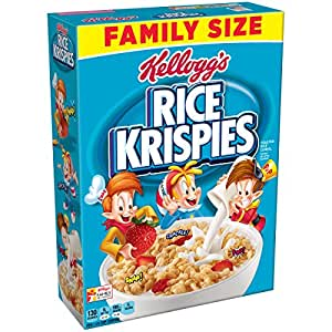 Amazon rice krispies kelloggs breakfast cereal family size exclusively for prime members details ccuart Gallery