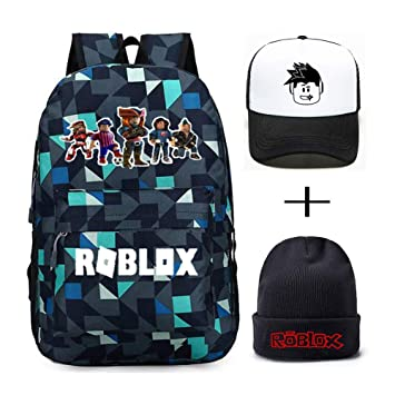 b6fe571819dcb Roblox Backpack With Baseball Cap and Knitted Hat