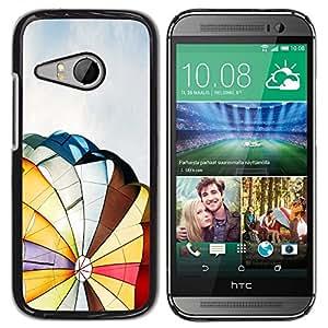TopCaseStore / la caja del caucho duro de la cubierta de protección de la piel - Hot Air Balloon - HTC ONE MINI 2 / M8 MINI