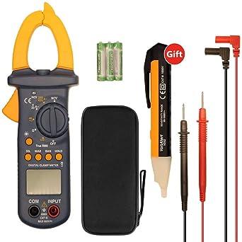 Vgeby Digital Clamp Meter Multimeter Auto-Ranging Multimeters Ac//Dc Voltmeter A