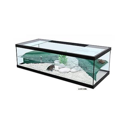 Zolux Tortum - Acuario/terrario para tortugas con filtro, color negro