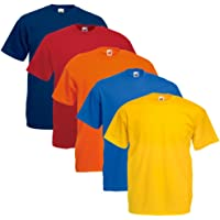 Fruit of The Loom T-Shirts 5Pack–Original T–Full Cut de