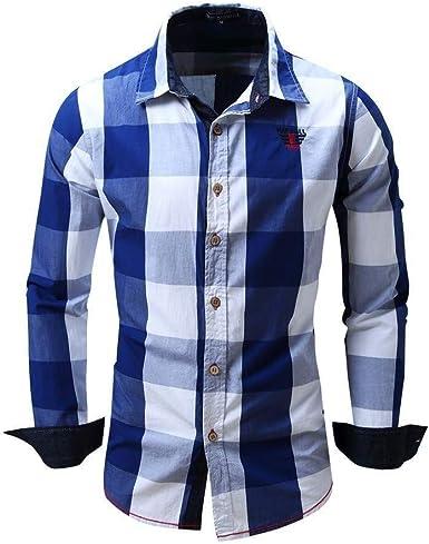 Camisa De Hombre Slim Fit Manga Larga Ocio Camisa De Ropa de Fiesta Manga Larga Traje