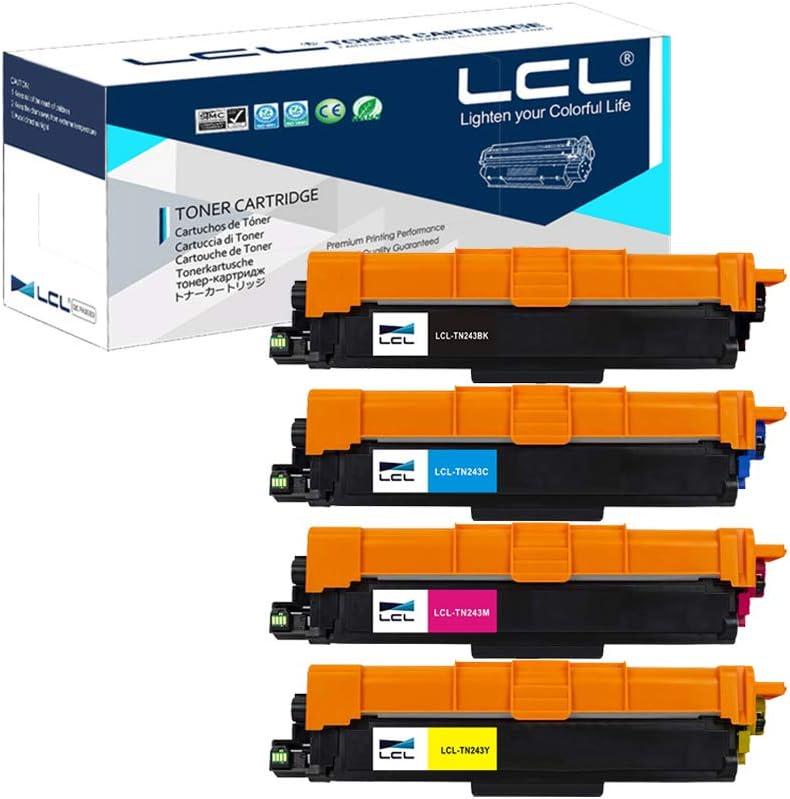 LCL Compatible Cartucho de t/óner TN223 TN-223 TN243 TN-243 TN-243BK TN243BK TN243C TN243M TN243Y Reempalzo para Brother HL-L3210CW HL-L3230CDW HL-L3270CDW MFC-L3710CDW 1Negro,1Mgenta,1Cian,1Amarillo