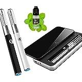 電子タバコ ケース内装バッテリ 2本 初級者から適用 ニコチン無し 日本語取扱説明書付 (黒色)