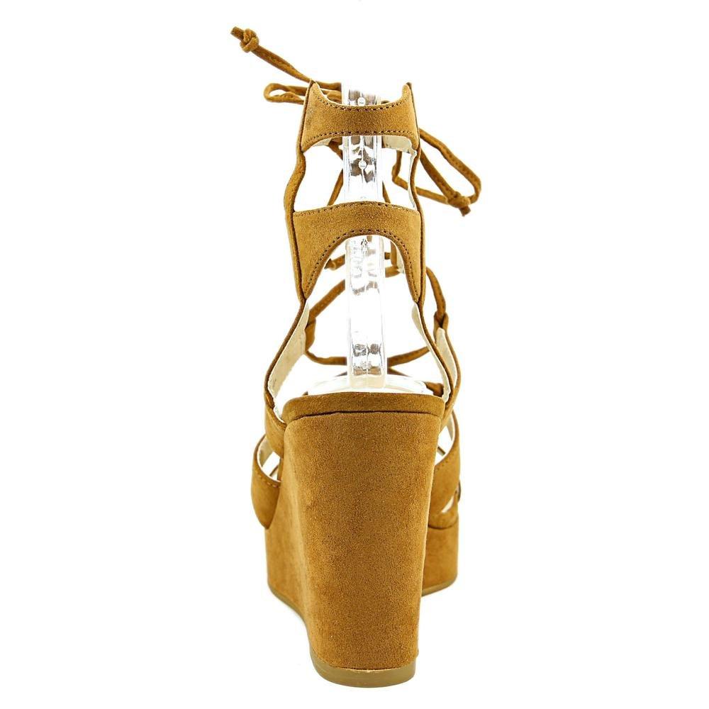 Nine West Frauen Kaliope Offener Anlass Zeh Besonderer Anlass Offener Sandalen Mit Keilabsatz Cognac/Light Braun b86205