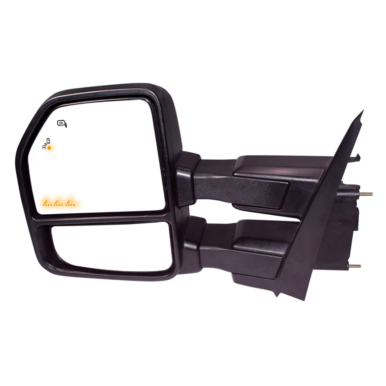AERDM F150 Towing Mirrors fit 2015-2018 with Auxiliary//Puddle Lights Signal Indicator and Linear arrow light Power Operation Heated Black Housing with 22pin to 8pin adapter