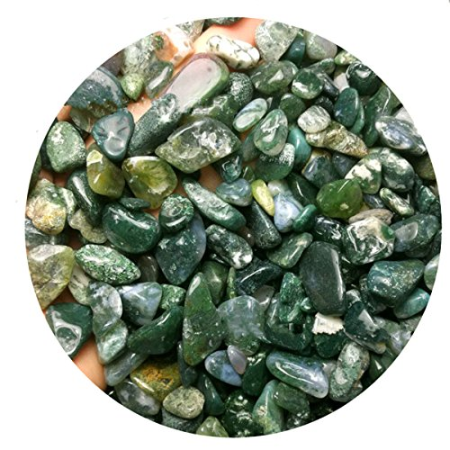 1/2LB 10mm Natural Green Aquatic Grass Agate Crystal Quartz Jewelry Aquarium Chips Gravels Beads (Aquatics Gravel)