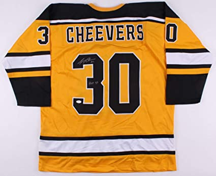 Image Unavailable. Image not available for. Color  Gerry Cheevers Autographed  Jersey (Boston Bruins) - JSA COA! 767a244d8