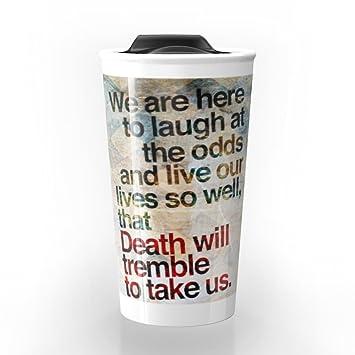 Amazoncom Society6 Death Will Tremble Travel Mug 12 Oz Kitchen