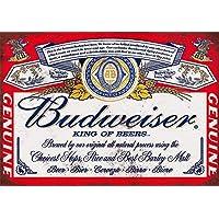 Shizzle Cartel publicitario Retro Budweiser, A5, en Aluminio