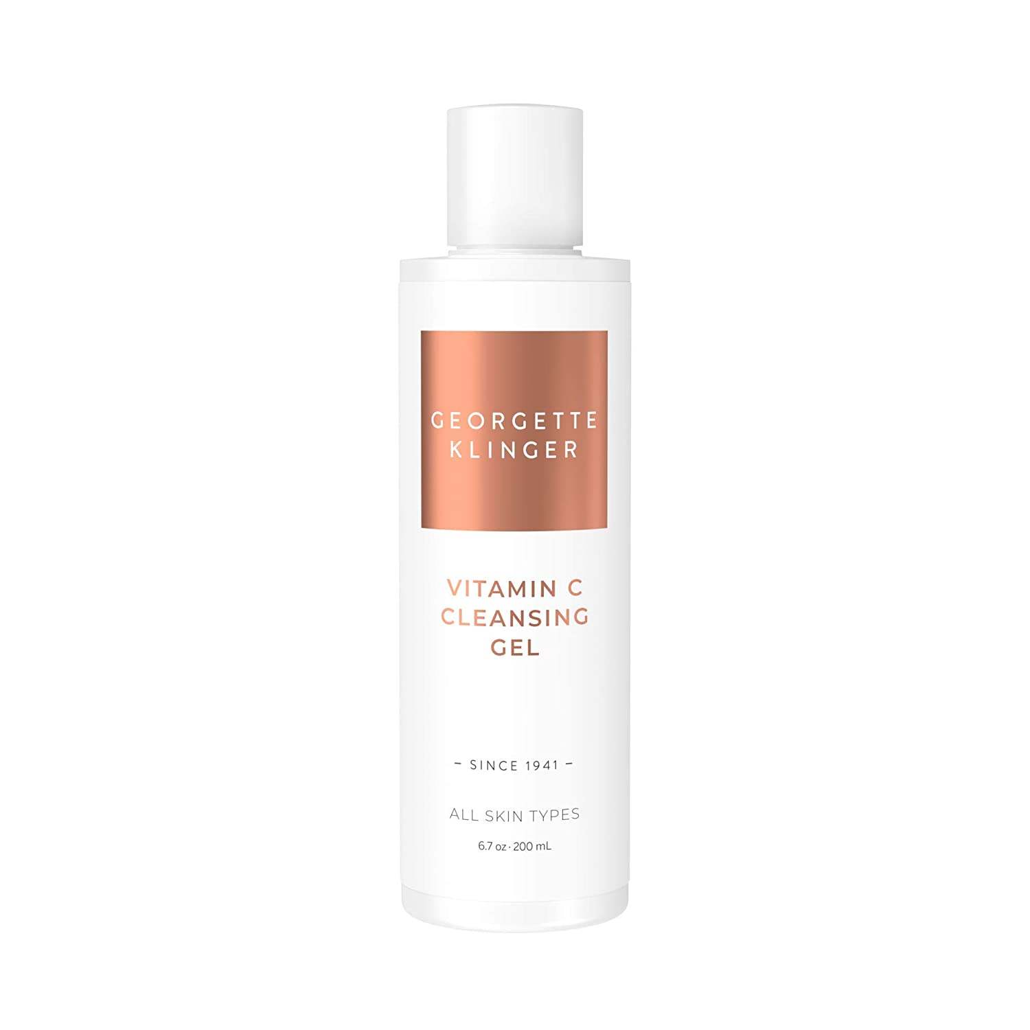 Vitamin C Cleansing Gel by Georgette Klinger – Non-Foaming Face Wash & Anti-Aging Facial Cleanser for All Skin Types to Clarify, Brighten & Reduce Dark Spots with Kakadu Plum & Natural Citrus Extracts