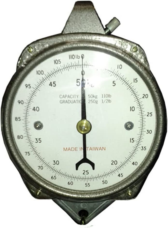 Zenport Accuzen Hanging Mechanical Dial Scale, 100-Pound, 100-lbs, silver