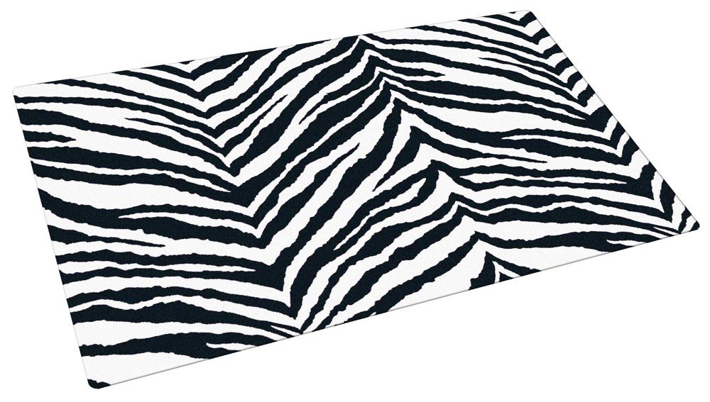 Drymate 12-Inch by 20-Inch Pet Bowl Place Mat with Zebra Imprint Design, Small/Medium