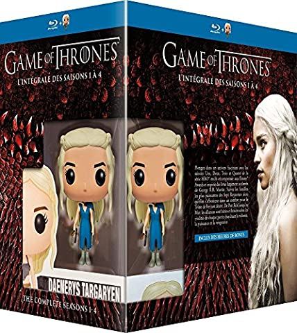 Game of Thrones (Complete Seasons 1-4) - 19-Disc Box Set & Daenerys FUNKO Figurine ( Game of Thrones - Seasons One to Four (40 Episodes) ) [ Blu-Ray, Reg.A/B/C Import - France (Got Season 4 Blu Ray)