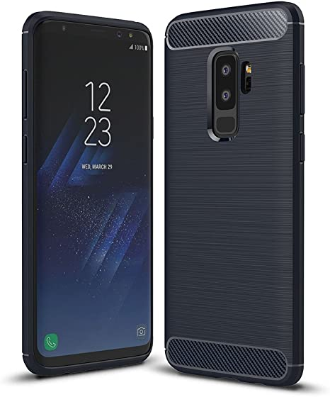 WindTeco Funda Galaxy S9 Plus - Ultra Slim Ligero Fibra de Carbono ...