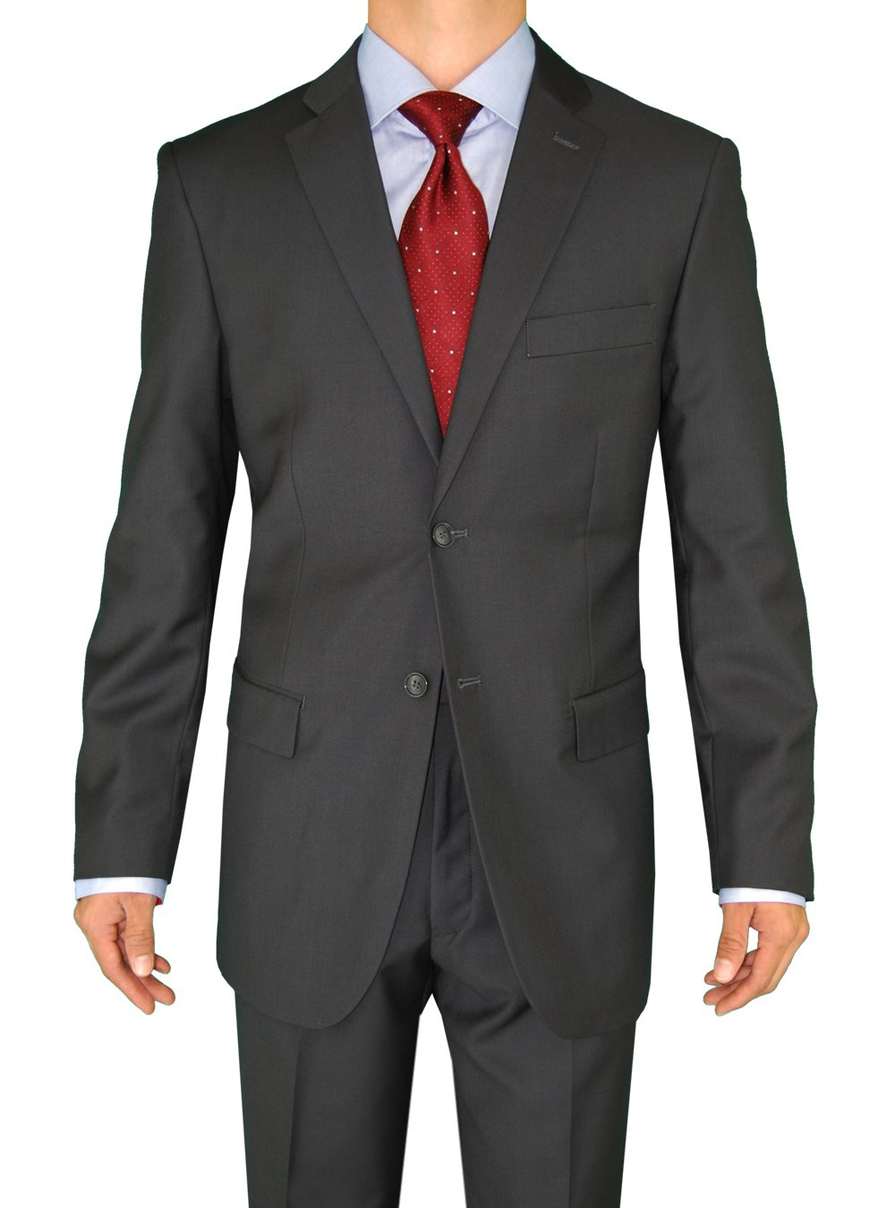 Fuomo Business Classic Men's Suit 2 Button 44R Charcoal