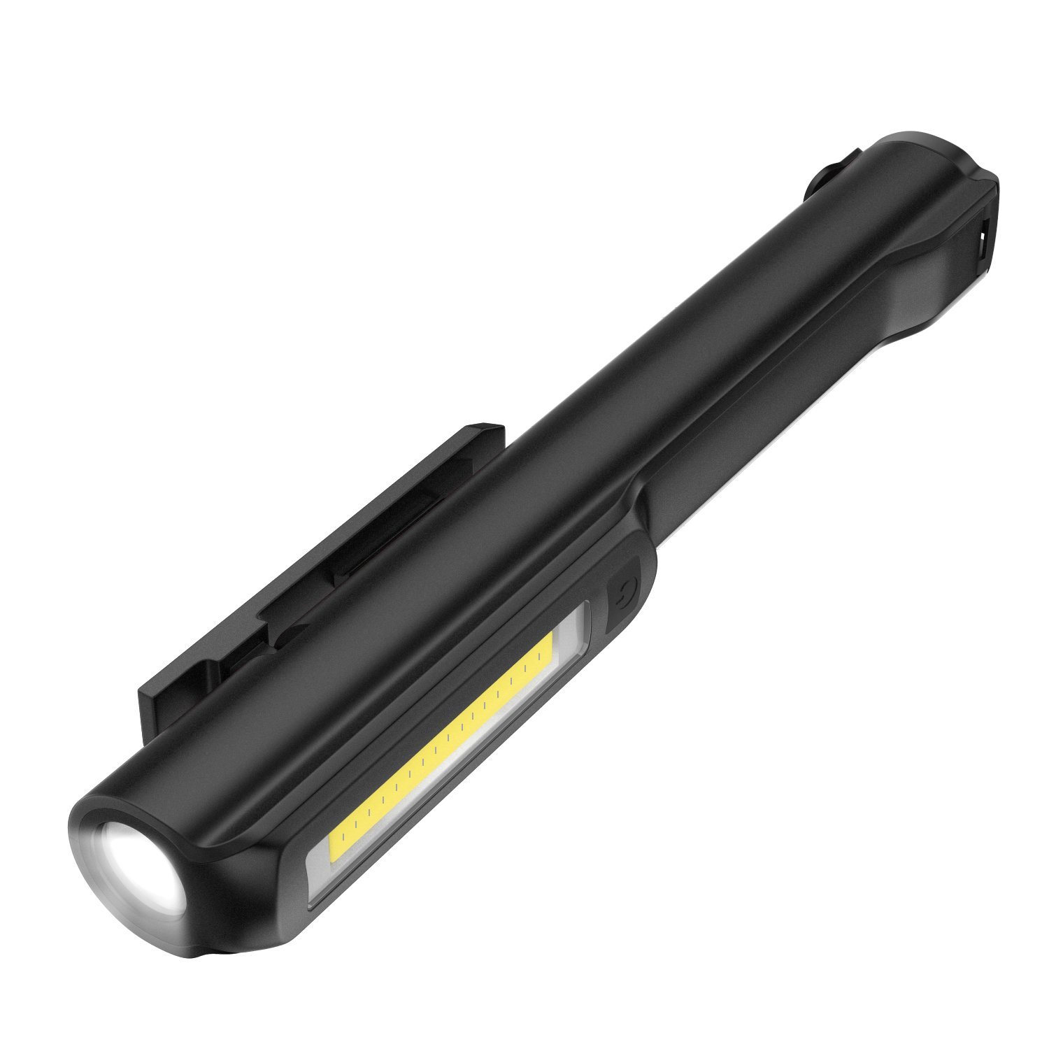 130 Lumen Flash Black Dual Magnet Ultra Bright Inspection Work Light with Powerful Magnetic Base and Rotating Magentic Clip Housolution Pocket Pen Work Light 160 Lumen COB Lamp