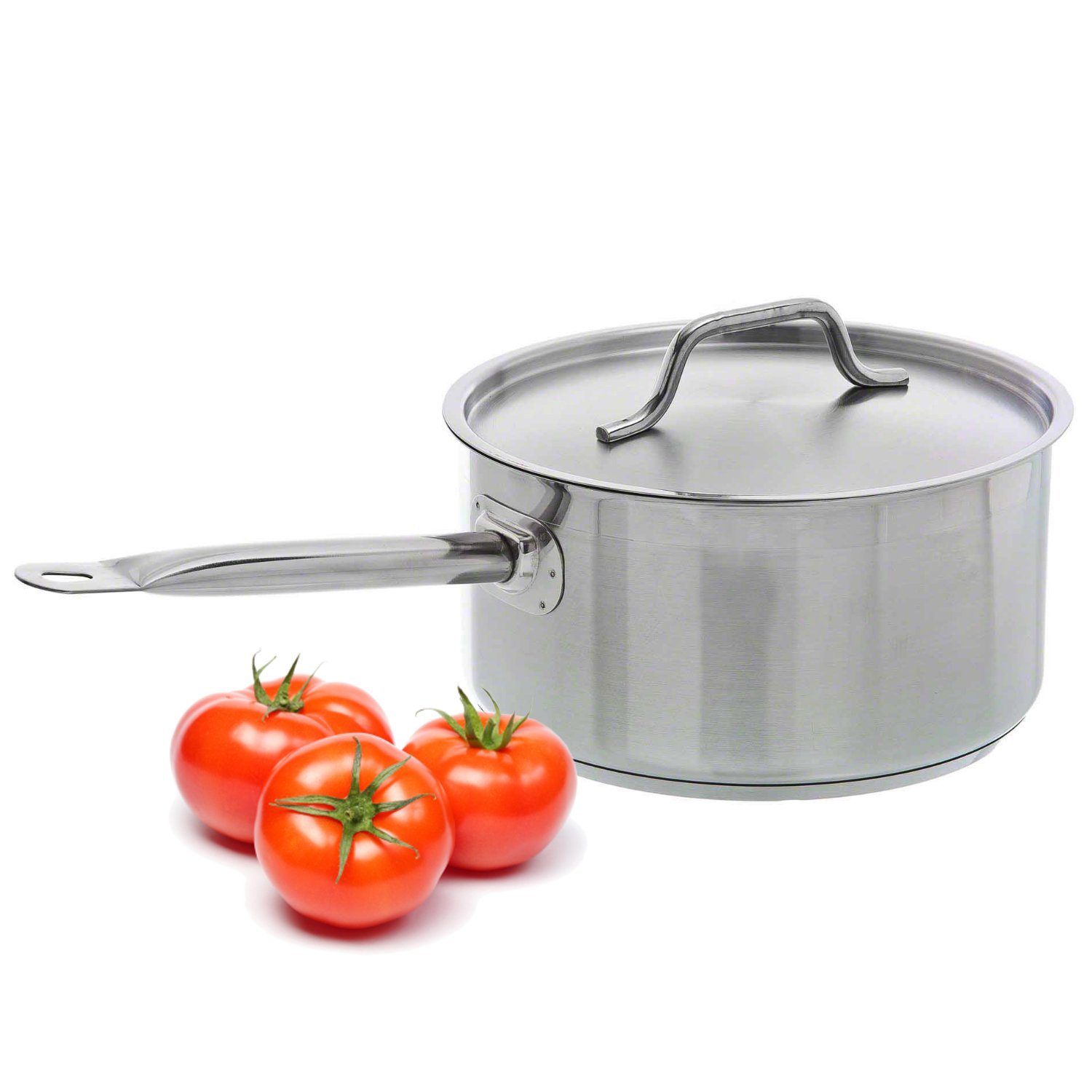 TrueCraftware Professional 3.5 Quart Stainless Steel Sauce Pan with Cover