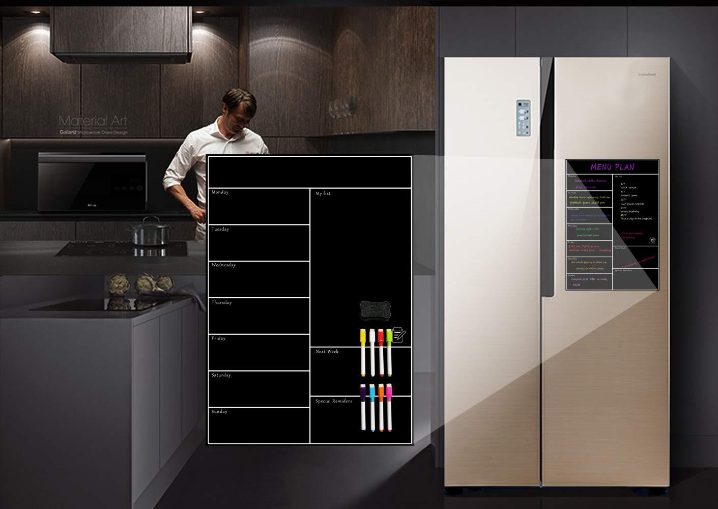 Kühlschrank Planer : Villexun weekly dry erase kühlschrank whiteboard menu planner