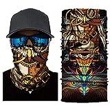 Palalibin 3D Printed Cycling Face Mask Motorcycle Head Scarf Neck Warmer Ski Balaclava Headband 24CM X 49CM (C, Free)