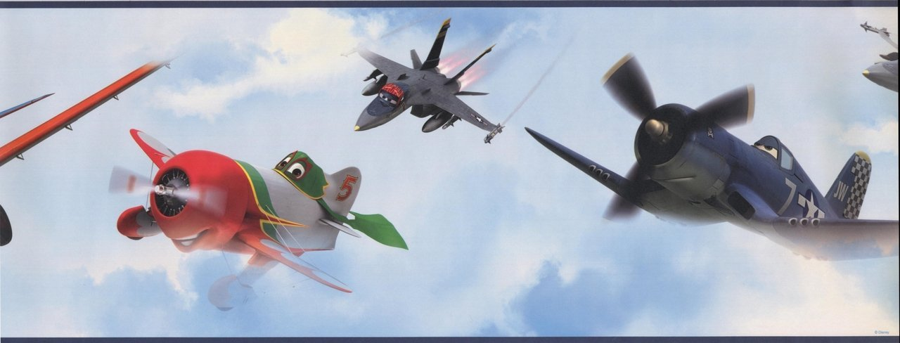 Disney Planes in The Sky Clouds Kids DS7718BD Wallpaper Border