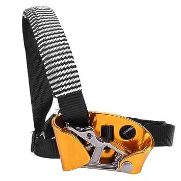 Alomejor Elevador de pie de Aluminio de aleación de magnesio Izquierdo o Derecho para Ascender, para Escalada de Rocas, montañismo, for Left Foot: ...
