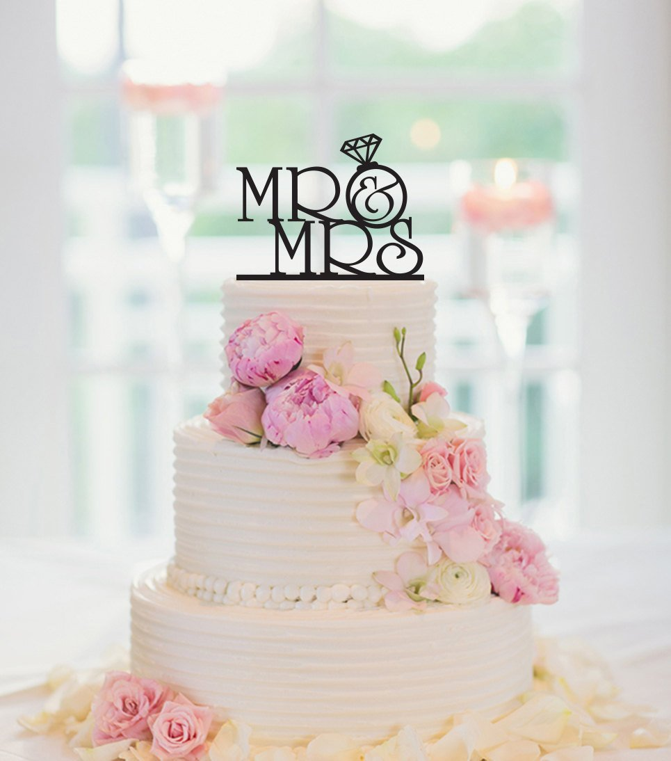 Amazon Com Wedding Cake Topper Mr And Mrs Engagement Cake