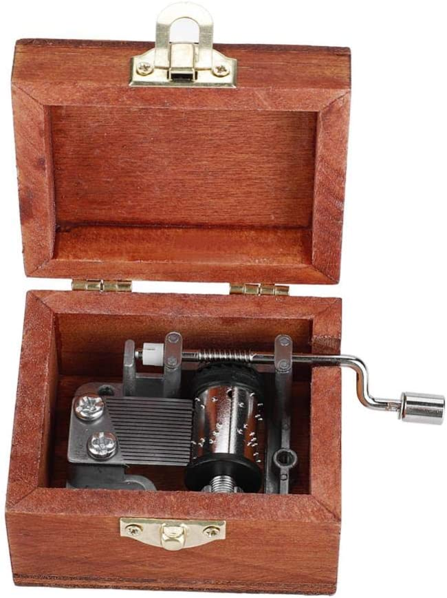 Ballet Wooden Hand Crank Music Box Movement DIY Make Your Music Tool Kit Art Music Box Movement Mechanism