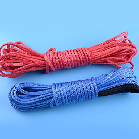 1//6/'/' x 50/' Synthetic Winch Rope 5700LBs For ATV SUV Cable Line /& Sheath
