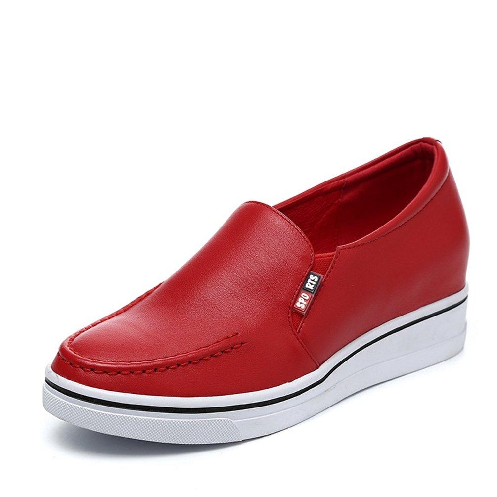 LFEU - Zapatillas de Deporte de Otra Piel Mujer 37 EU|Rojo
