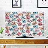 Cord Cover for Wall Mounted tv Table Sketch Style Chemistry Class Elements Science Camp Art Print Light Cover Mounted tv W19 x H30 INCH/TV 32'