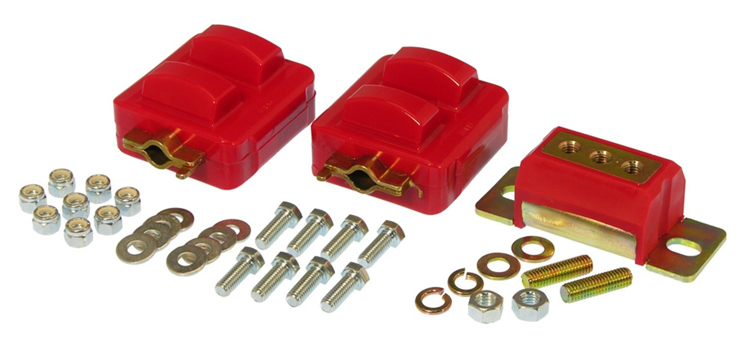 Prothane 7-1908 Red Motor and Transmission Mount Kit by Prothane