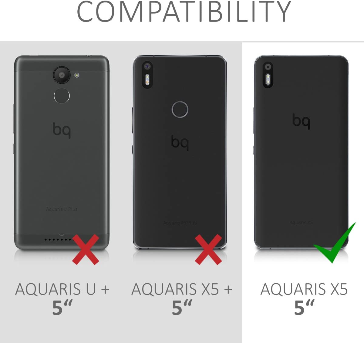 kwmobile Funda Compatible con bq Aquaris X5: Amazon.es: Electrónica