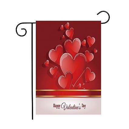 Feliz día de San Valentín Amor banderas decoración de la casa Mini jardín Banner, 100