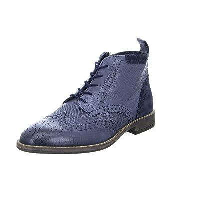 194af33e89 BOXX Herren Schnürer Stiefel Budapester MH-336H10 Reißverschluss Leder Blau  Grau, Größe 40