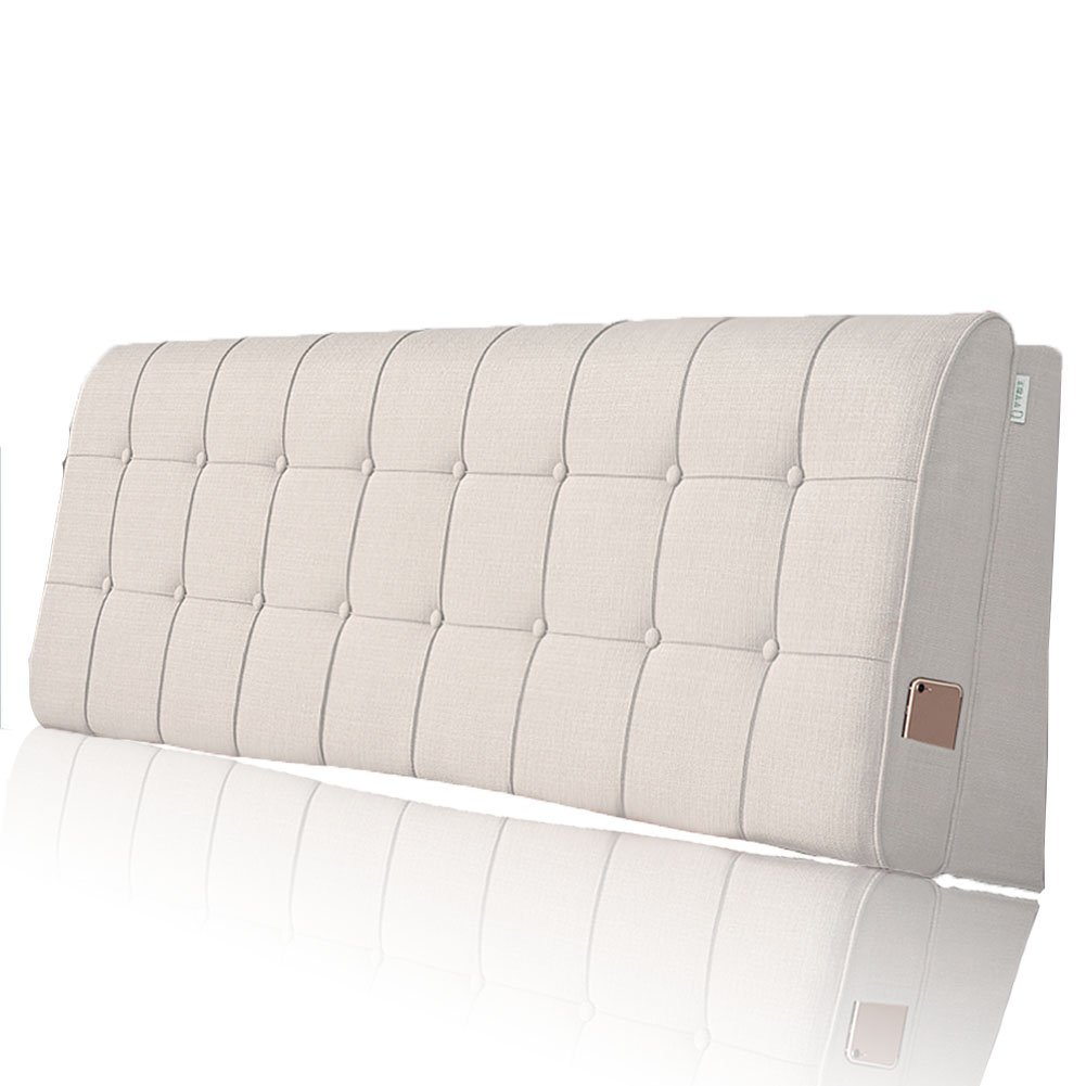 LIANGLIANG クッションベッドの背もたれ 二人の特別な通気性の多機能ベッドサイドボードクロス付き、5サイズ、13色 (色 : クリーミーホワイト, サイズ さいず : 120x60x10cm) B07FRLM86S 120x60x10cm|クリーミーホワイト クリーミーホワイト 120x60x10cm