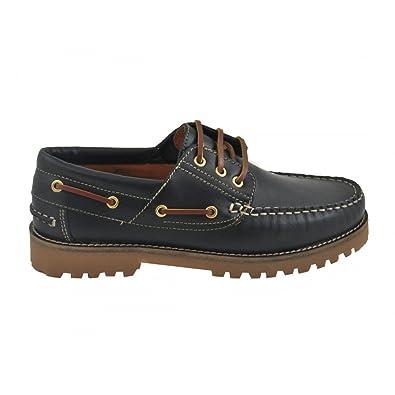 Nauticos de Piel clásicos Cordones Marrones Piso Goma Marino - Benavente: Amazon.es: Zapatos y complementos