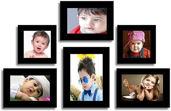 Aadinath Collection Generic, Acrylic, MDF Photo Frame  Black, 6 Photos  Photo Frames